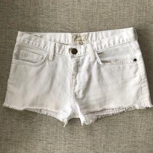 Current Elliott white denim jean shorts 26